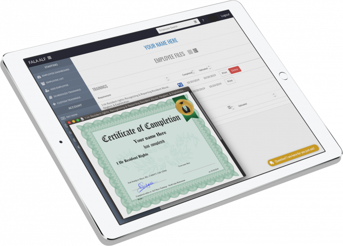Automated Training Documentation and certification
