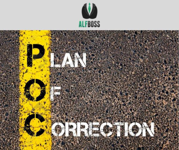Plan of correction